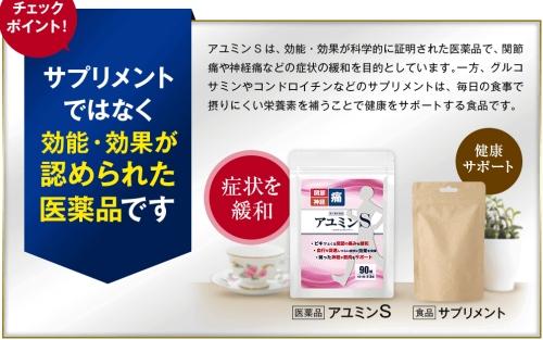 アユミンSは効果効能が認められた医薬品です。